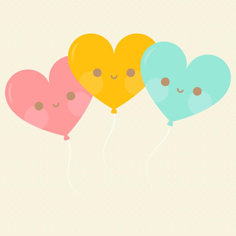 kawaii-heart-balloons