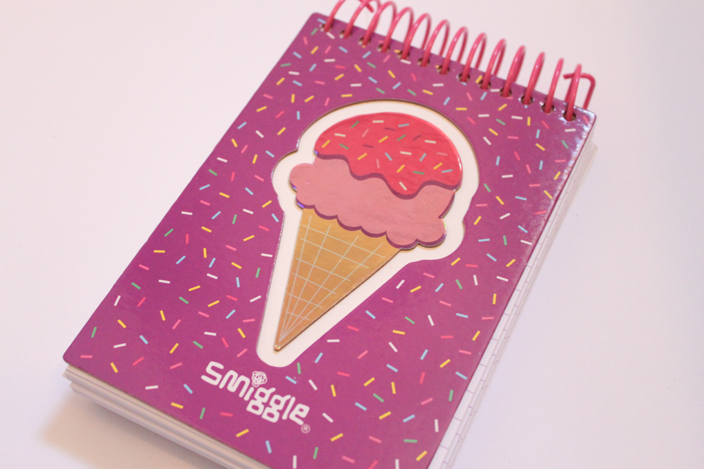Smiggle Ice-Cream Notepad