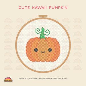 Halloween Pumpkin Cross Stitch Pattern