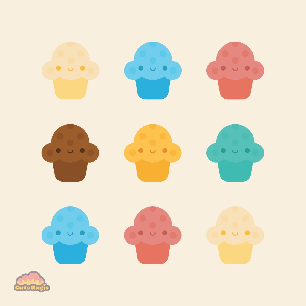 Cute Kawaii Muffins