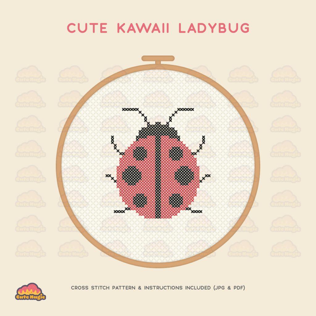 Ladybug Cross Stitch Preview