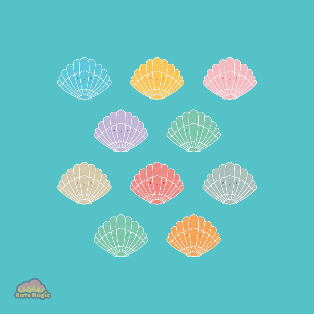 Cute Kawaii Seashells
