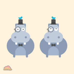 Cute Kawaii Gentleman Hippos