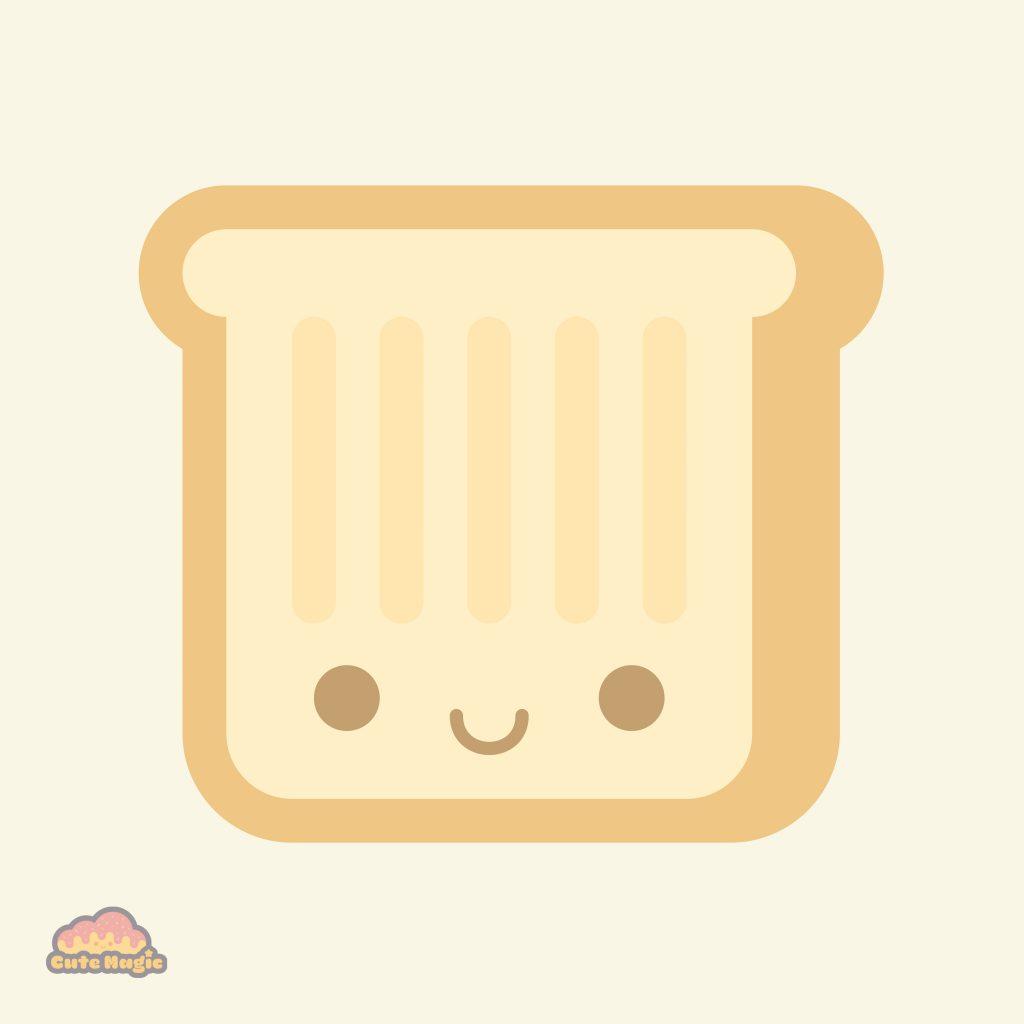 Cute Kawaii Toast