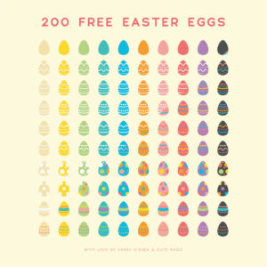 200 Free Digital Vector Easter Eggs