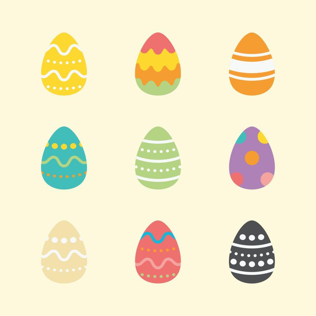 200 Free Digital Vector Easter Eggs: Sample