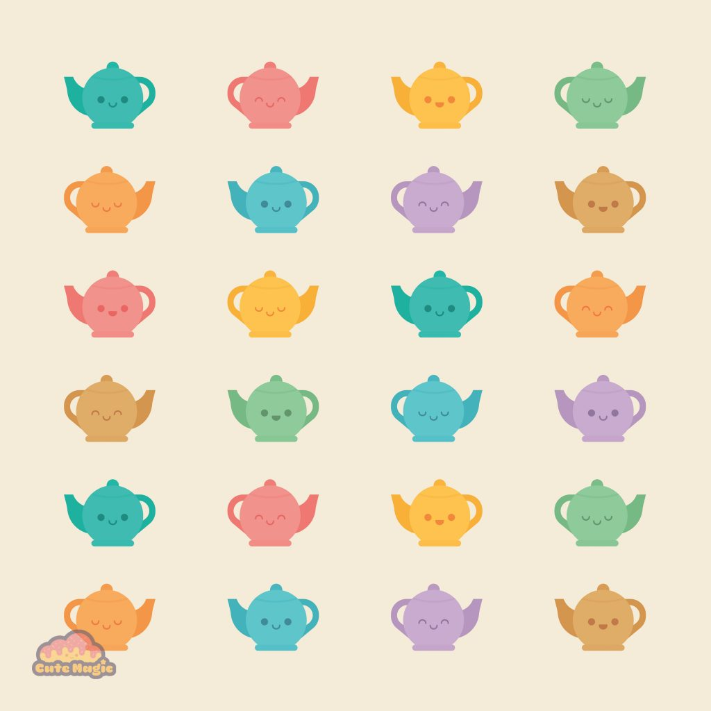 Cute Kawaii Teapots