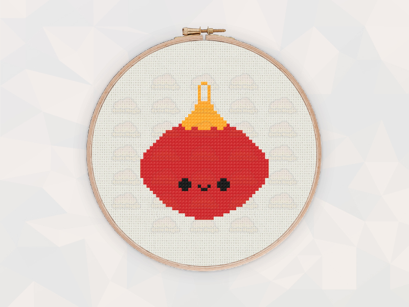 Christmas Cross Stitch Patterns: Christmas Bauble