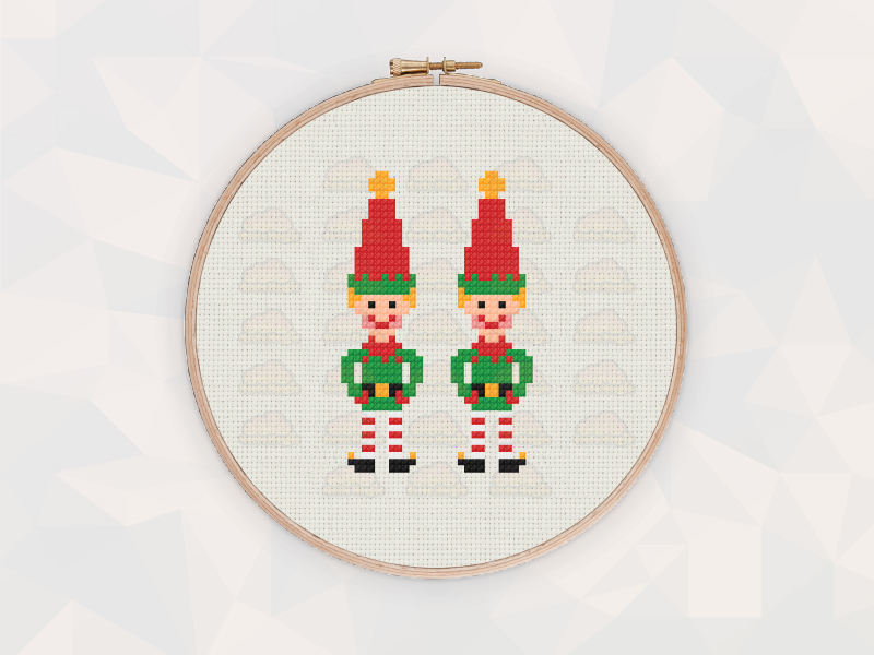 Christmas Cross Stitch Patterns: Christmas Elves