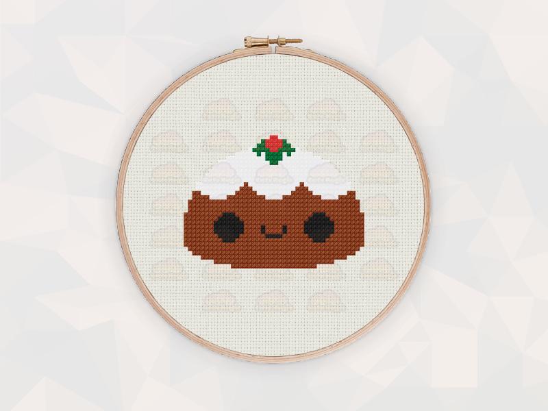 Christmas Cross Stitch Patterns: Christmas Pudding