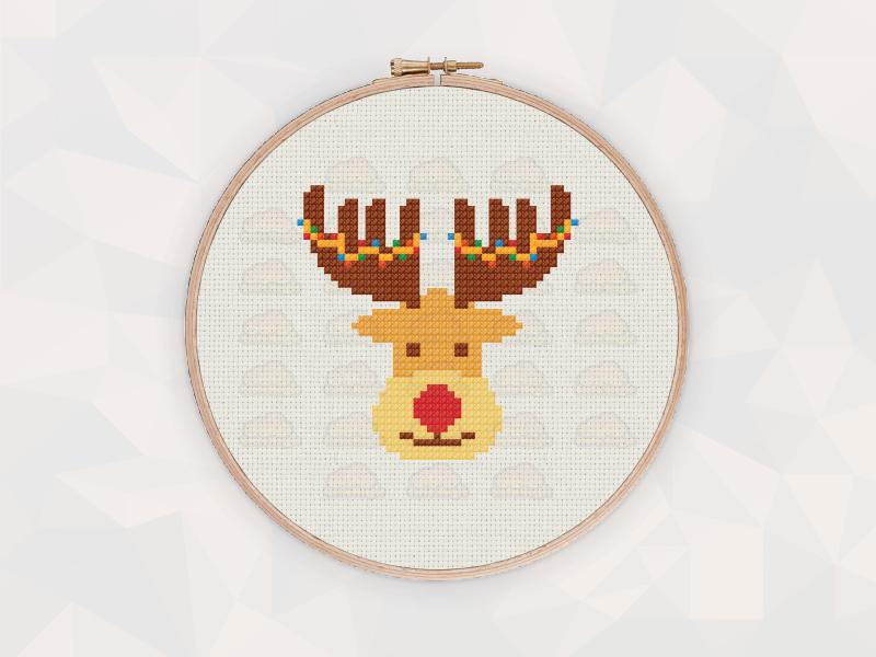 Christmas Cross Stitch Patterns: Christmas Reindeer