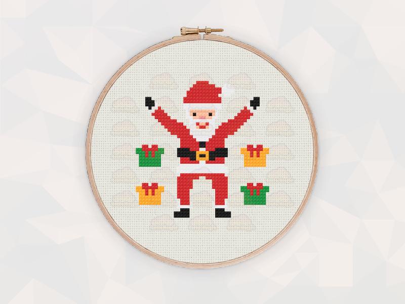 Christmas Cross Stitch Patterns: Christmas Santa Claus