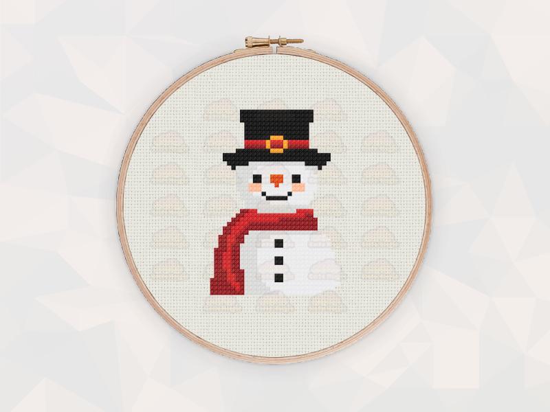 Christmas Cross Stitch Patterns: Christmas Snowman