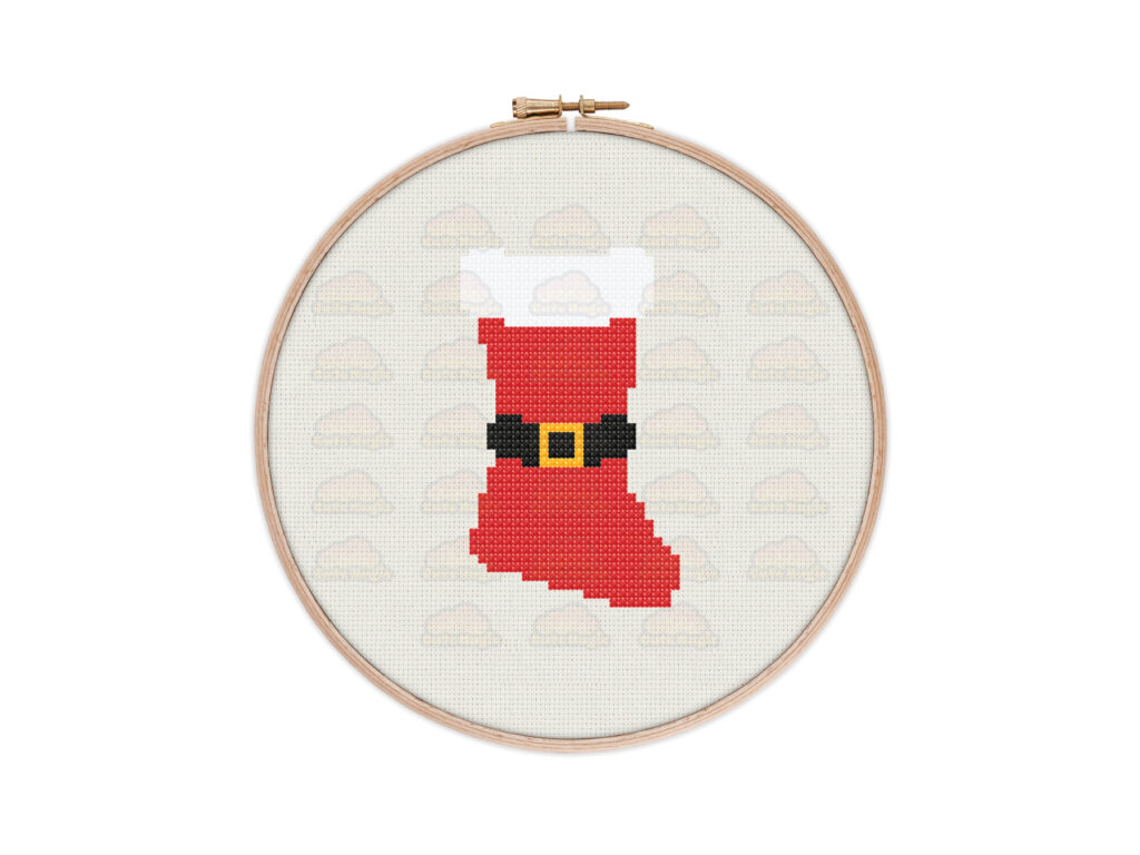 Christmas Stocking Digital Cross Stitch Pattern