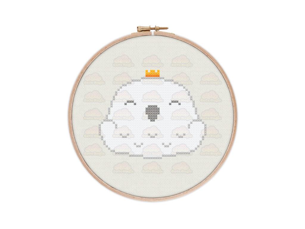 Cute Kawaii Owl Digital Cross Stitch Pattern