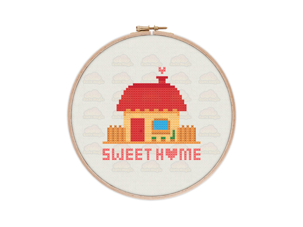 Home Sweet Home Digital Cross Stitch Pattern