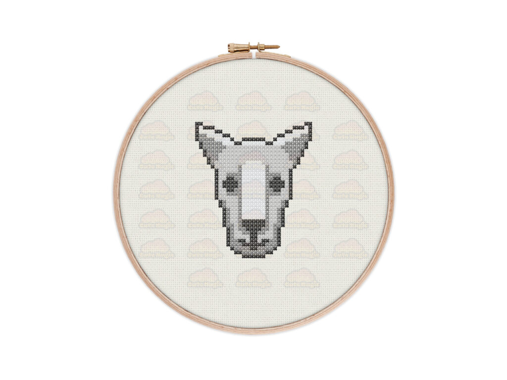 Cute Kangaroo Digital Cross Stitch Pattern