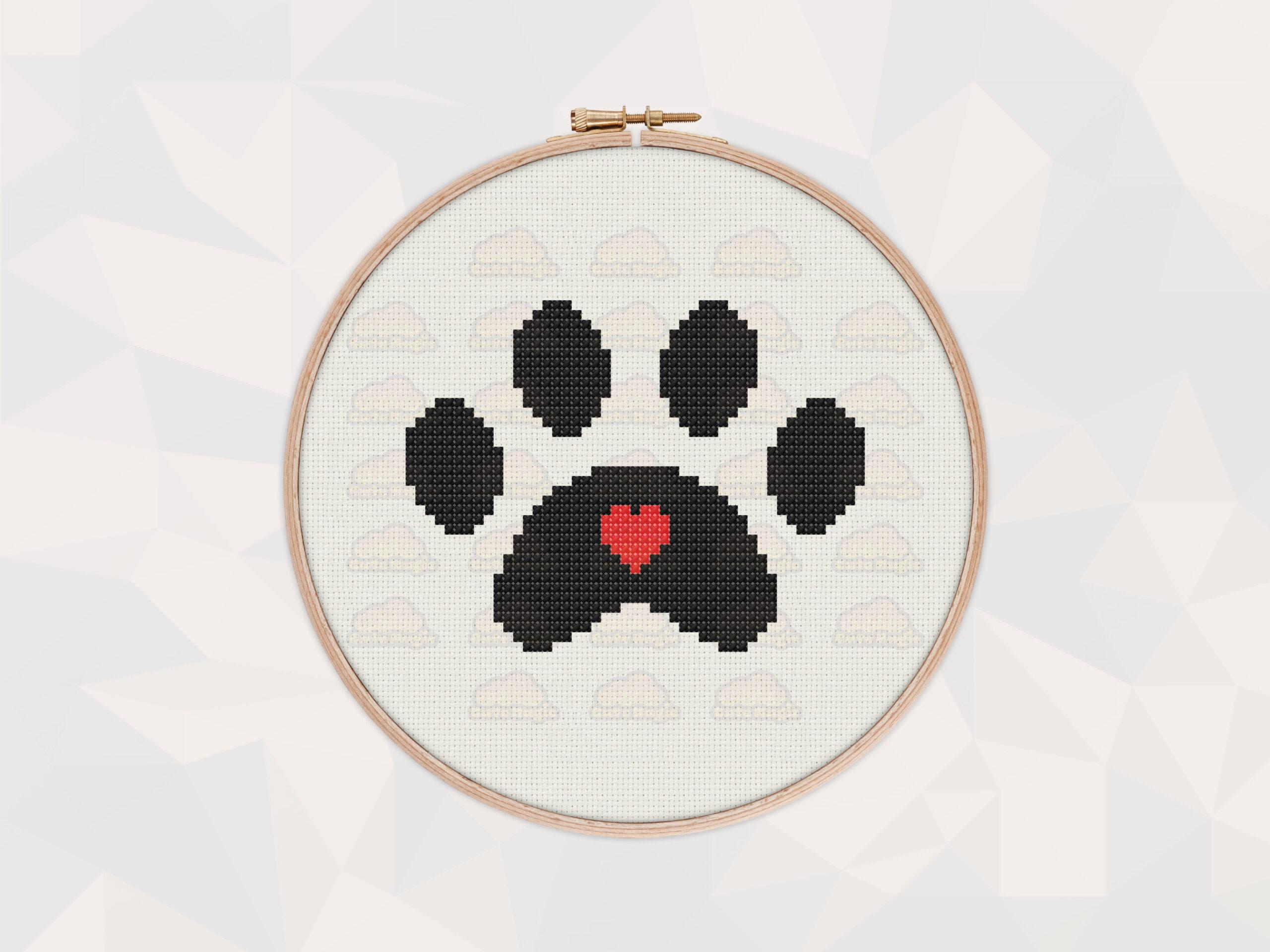 Bear Paw Cross Stitch Pattern