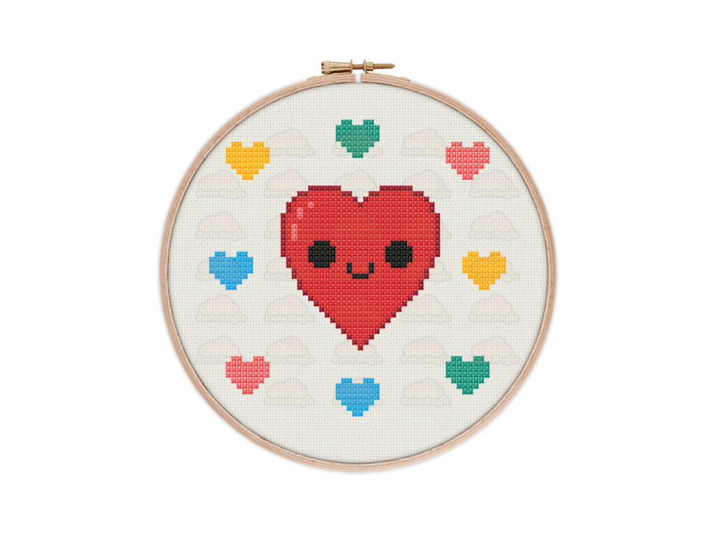 Hearts Cross Stitch Pattern