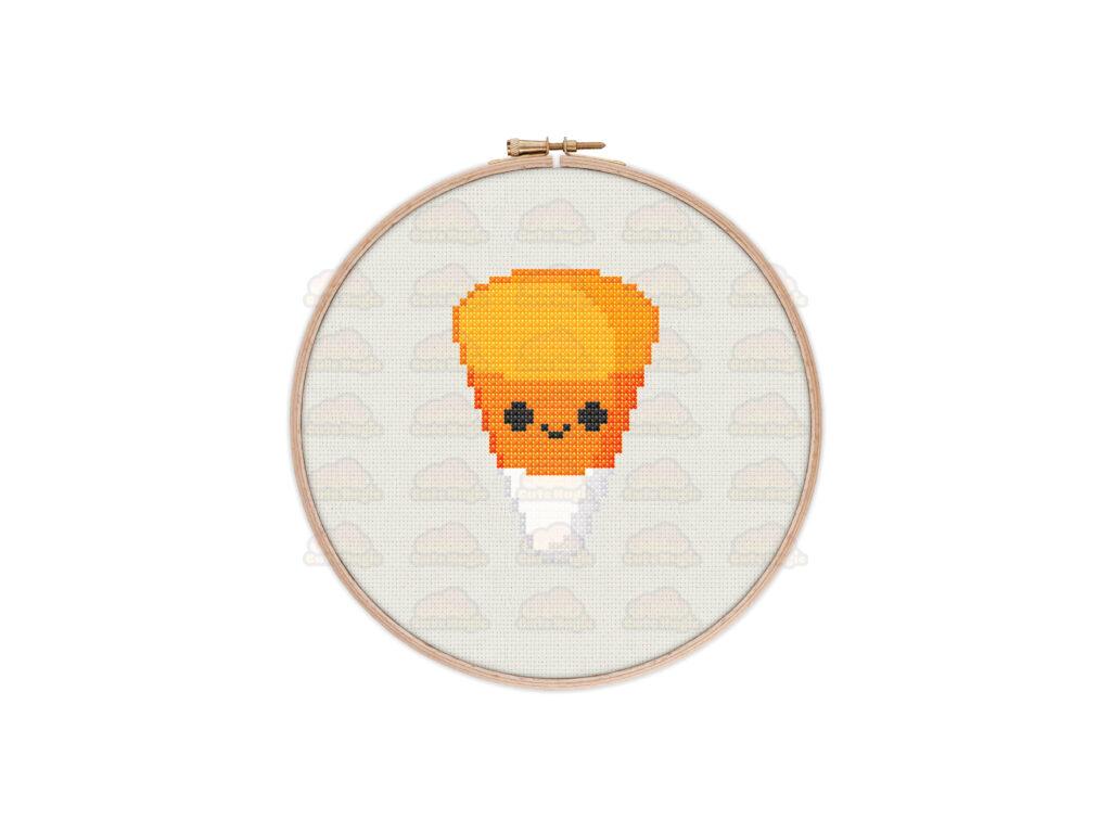 Cute Kawaii Halloween Candy Corn Digital Cross Stitch Pattern