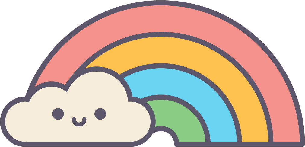 Cute Magic Rainbow and Cloud