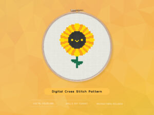 Free Cute Kawaii Sunflower Cross Stitch Pattern