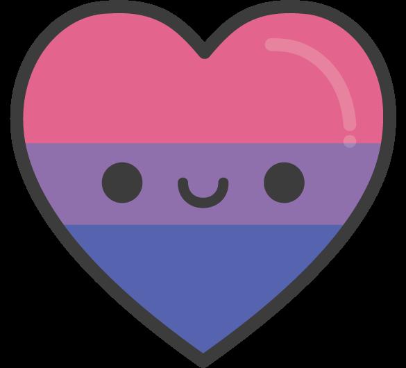 Cute Kawaii Bisexual Pride Heart