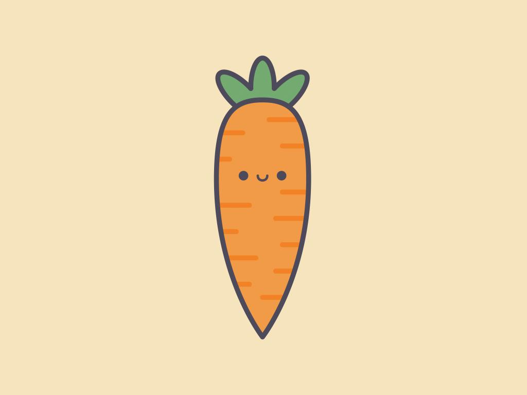 Cute Kawaii Carrot