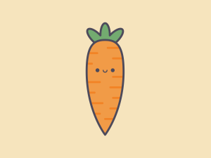 Cute Kawaii Carrot