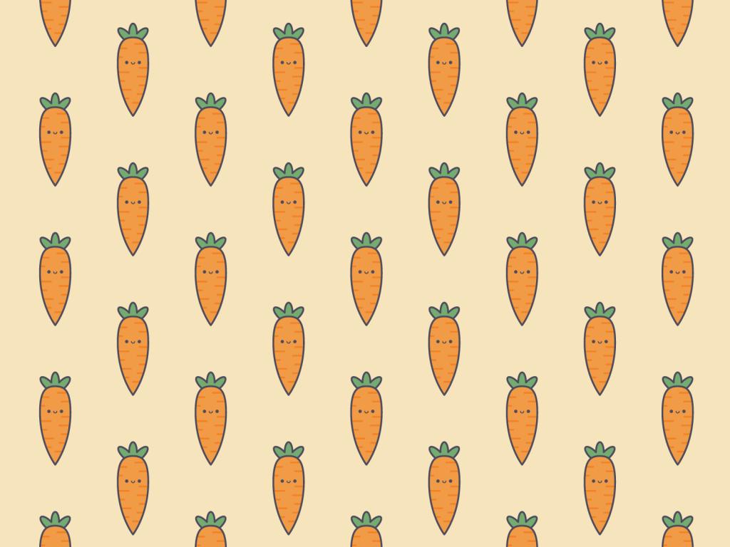 Cute Kawaii Carrot Pattern