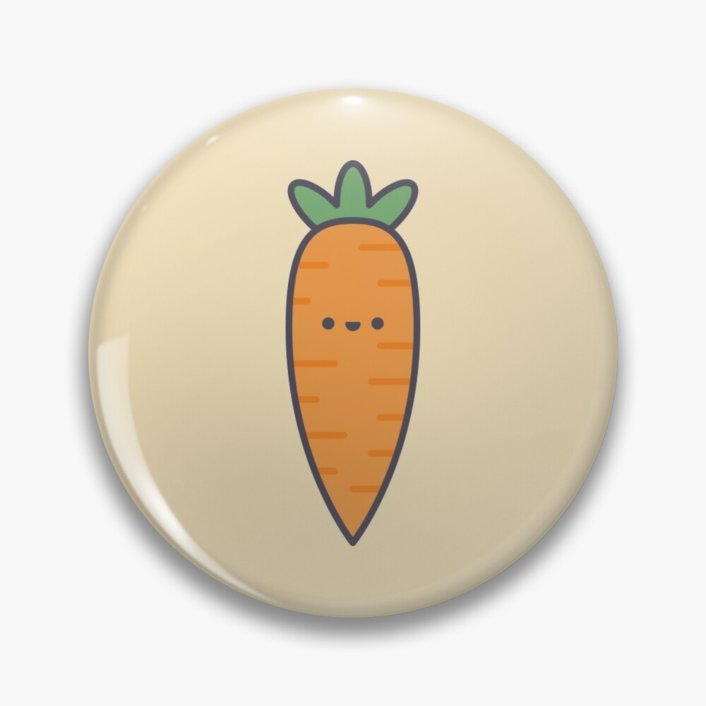Cute Kawaii Carrot Pin Button Badge