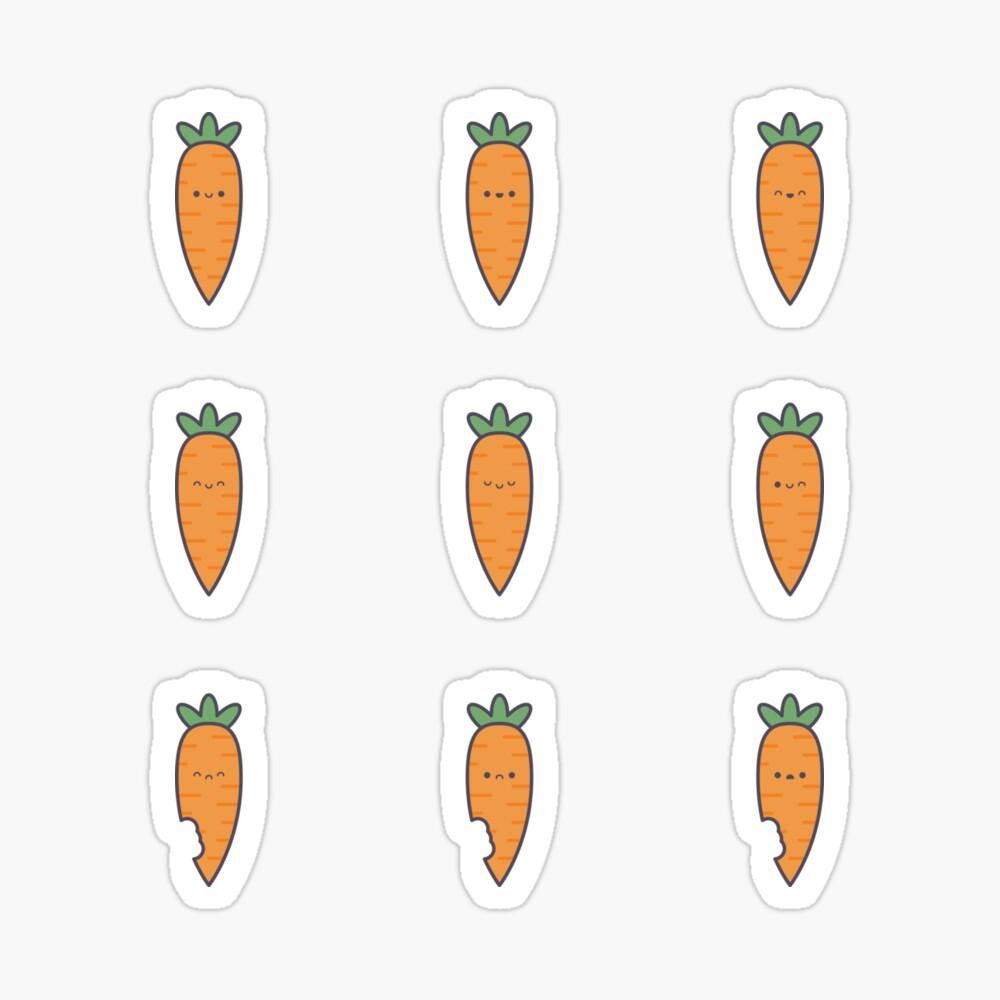 Cute Kawaii Carrot Stickers