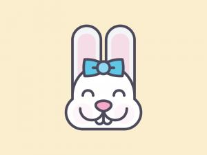 Cute Kawaii Bunny Face