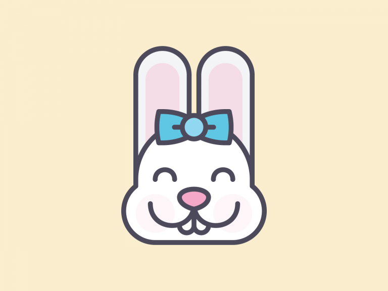 Cute Kawaii Bunny Face