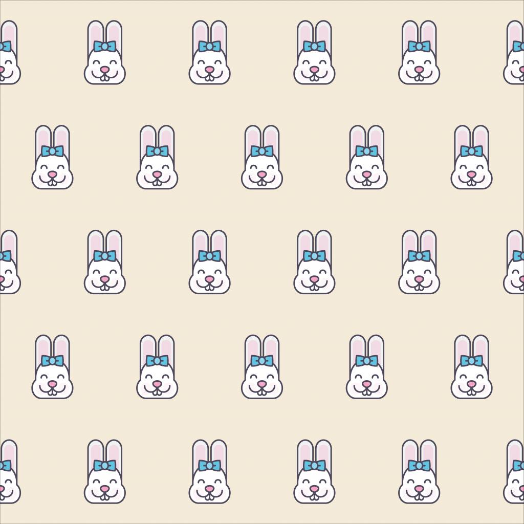Cute Kawaii Bunny Face Pattern