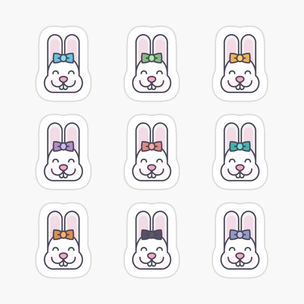 Cute Kawaii Bunny Face Stickers