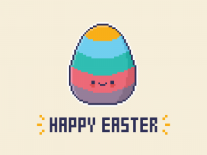 Cute Kawaii Happy Easter 2021
